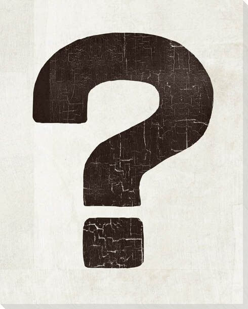 Black and white question mark