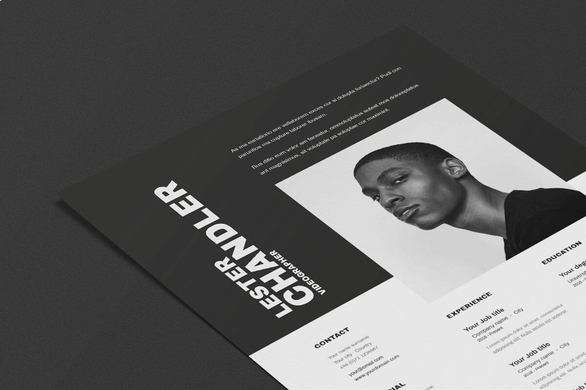 Black and white template CV