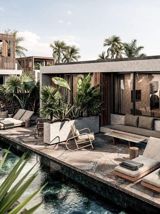 Luxury minimal suites with pool